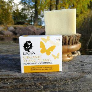 Luanas Organic Products - syvapuhdistava ylang ylang palashampoo