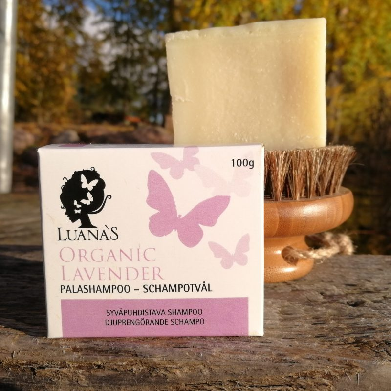 Syvapuhdistava laventeli palashampoo - Luanas Organic Products