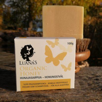 hunajasaippua luonnonkosmetiikkaa Suomesta