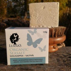 merisuolasaippua kasvoille ja iholle - Luanas Organic Products