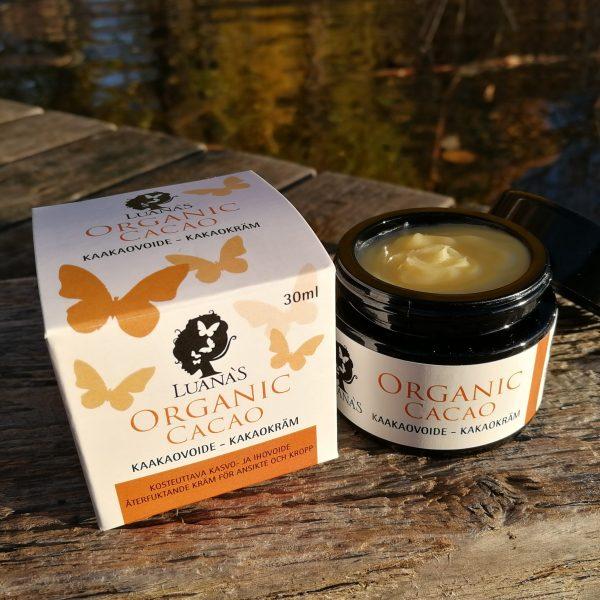 Kaakao ihovoide Luanas Organic Products