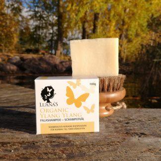 Ylang ylang palashampoo normaalista kuivaan hiuspohjaan - Luanas Organic Products