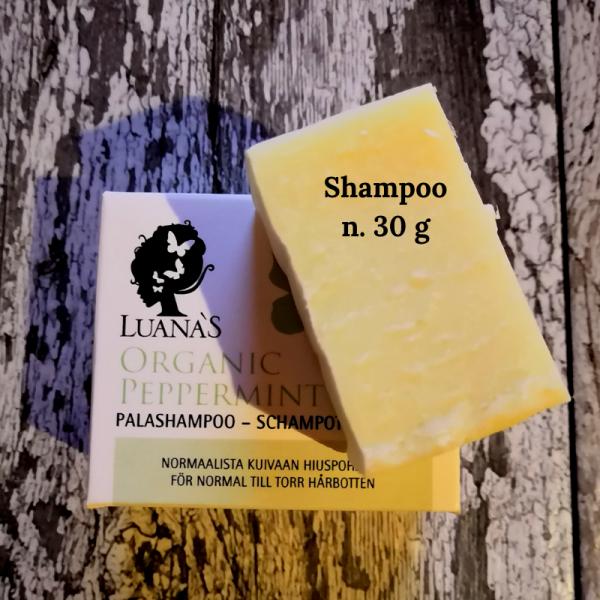 testipala palashampoosta Luanas Organic