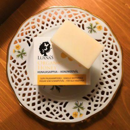 luonnonkosmetiikka hunajasaippua testipala Luanas organic