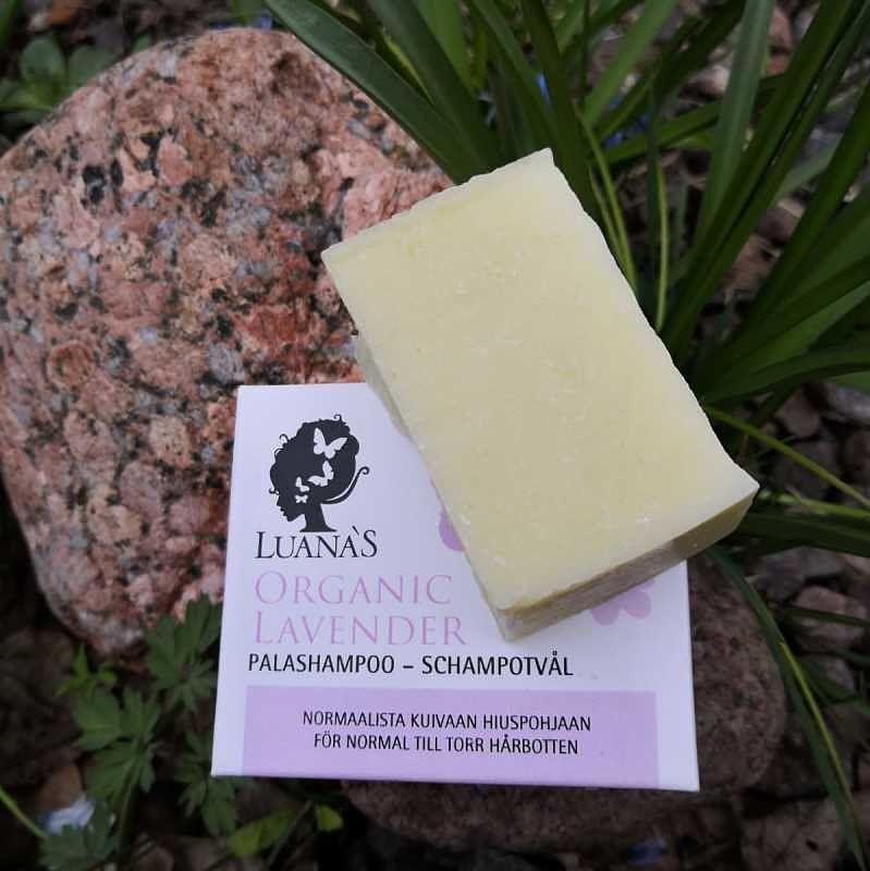 luonnonkosmetiikka palashampoo testipala Organic Lavender
