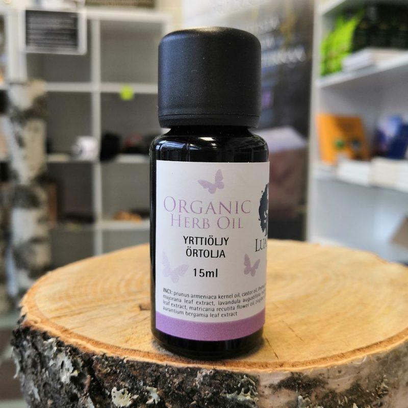 yrttiöljy matkapakkaus Luanas Organic
